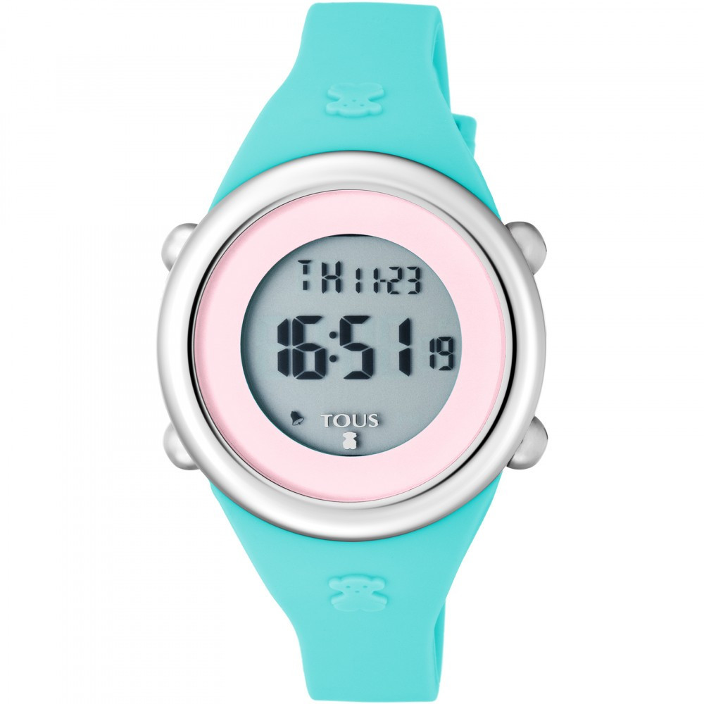 46f2e8279a56 Reloj Tous Soft Digital de acero con correa de silicona azul 800350620