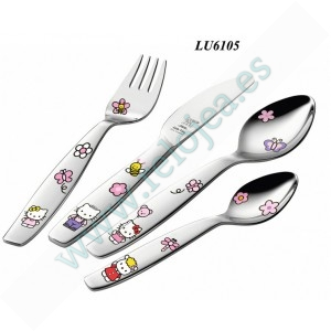 Regalos Set 4 Cubiertos Hello Kitty LU6105 LU6105